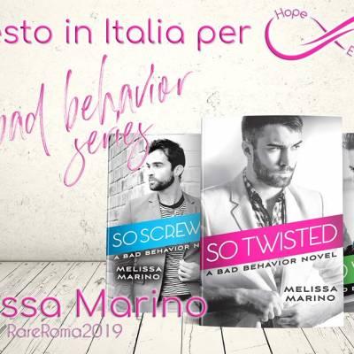 Presto in Italia… Melissa Marino!