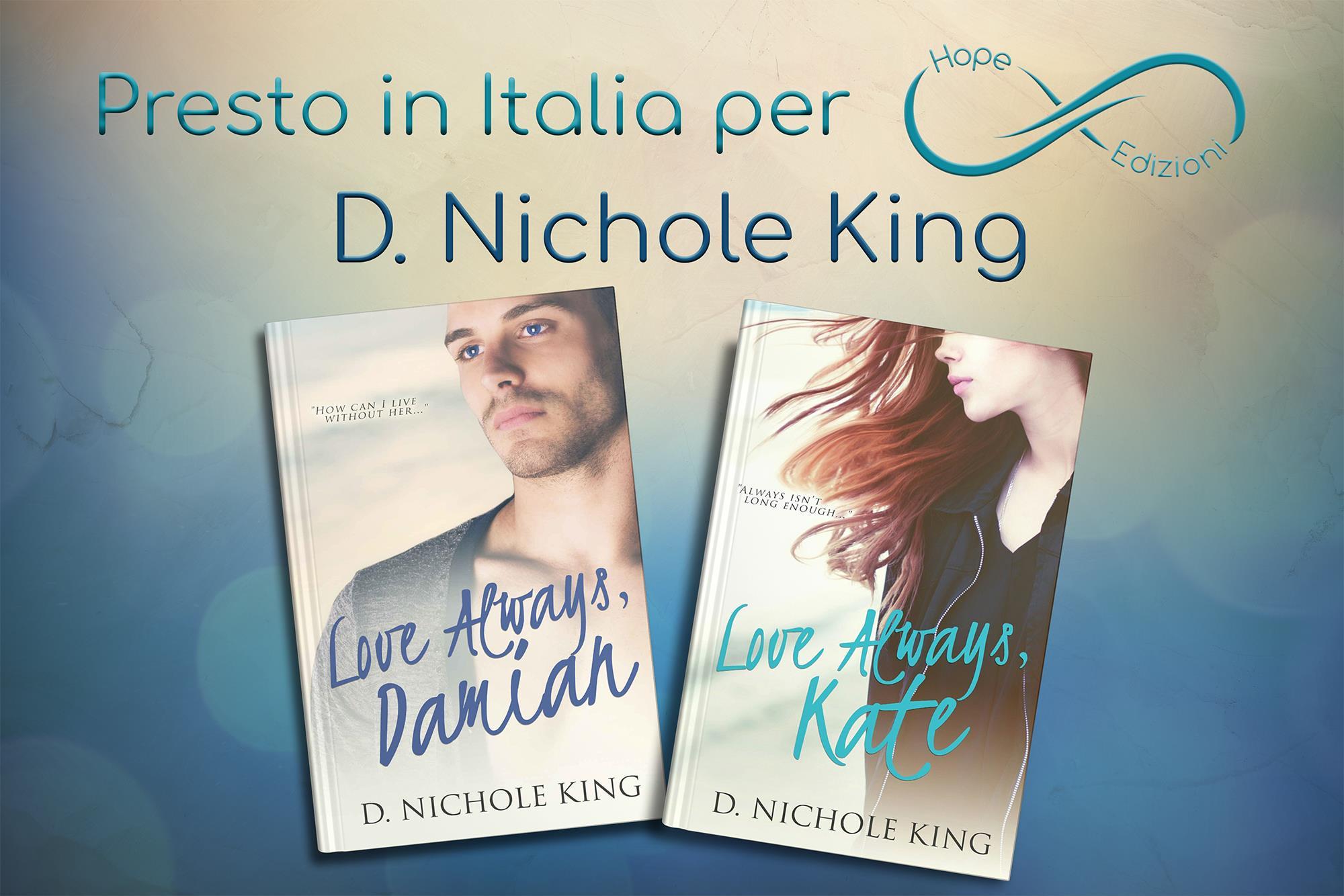 Presto in Italia… D. Nichole King!