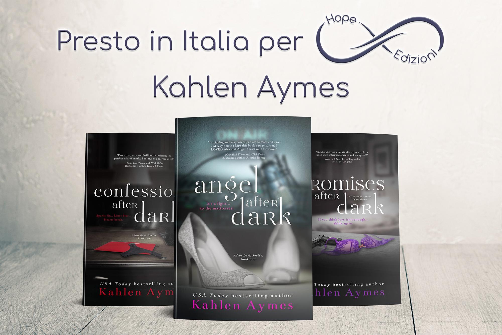 Presto in Italia… Kahlen Aymes!